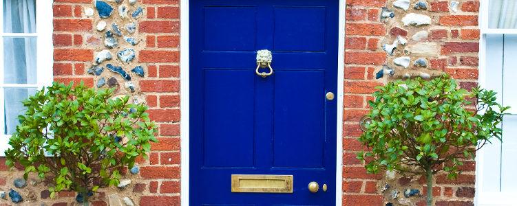 on-trend front door