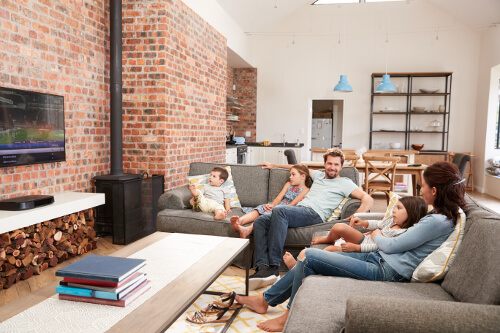 open plan living - social space