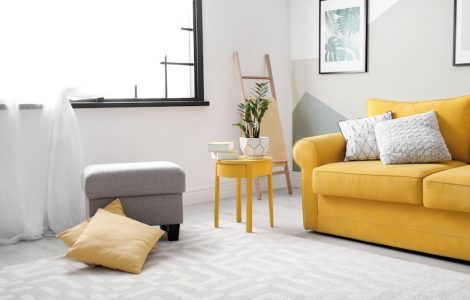 Calming greys and yellows - Flat decoration ideas