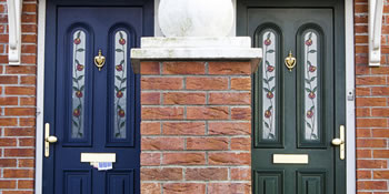 Composite front doors in Rochester