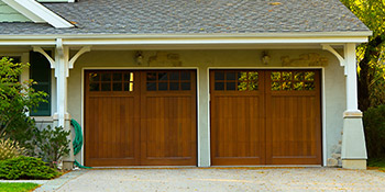 Wooden garage doors in Wirral
