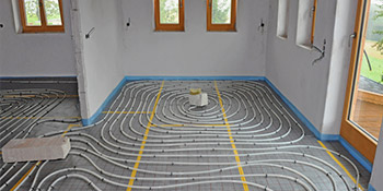 Underfloor heating in Castle Cary