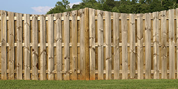 Wooden fencing in Holmfirth
